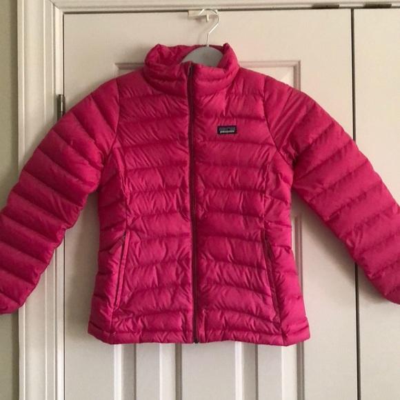 92d4232bef53 Patagonia GIRLS down sweater jacket. Pink. M (10).  M 5a7b38b81dffda35fcab07dc